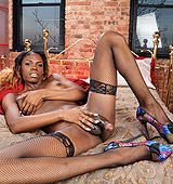 Brooke. Black hottie Brooke strips & jerks