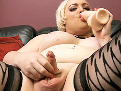 Michelle austin dildo make love. Busty Michelle blows and toys her anal